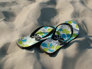 <small><i>Flip-flops on the Beach</i> by <a href=